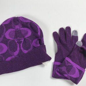 Coach knit cap beanie